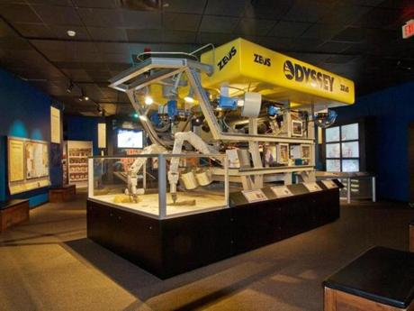 "A life-size replica of the 8-ton remotely operated undersea vehicle Zeus will be on display in the ""Shipwreck! Pirates & Treasure"" exhibit at the Museum of Science."